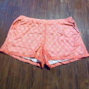 Peach Lace Shorts